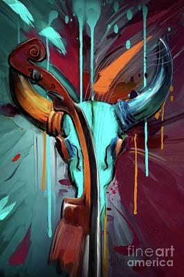 Zodiac Painting - Taurus by Melanie D