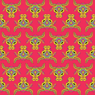 Taurus Zodiac Sign Pattern Original by Prathamesh Prabhu