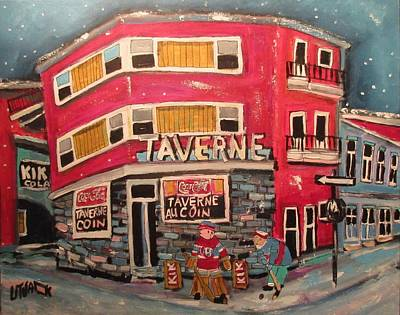 Painting - Taverne Au Coin Faubourg A M'lasse 1963 by Michael Litvack
