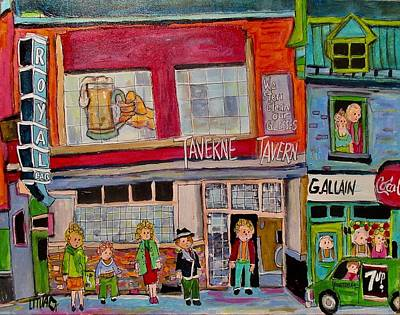 Painting - Taverne Royal Faubourg A M'lasse 1963 by Michael Litvack