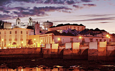 Art Print featuring the photograph Tavira At Dusk - Portugal by Barry O Carroll