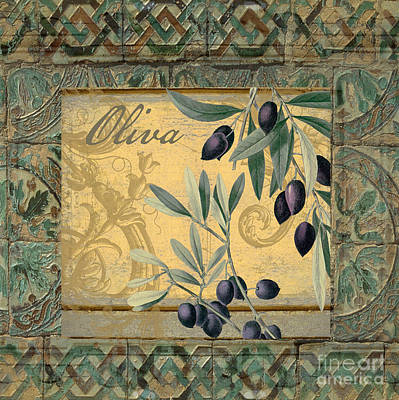 Artichoke Painting - Tavolo, Italian Table, Olives by Mindy Sommers