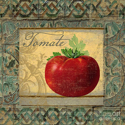 Artichoke Painting - Tavolo, Italian Table, Tomate by Mindy Sommers