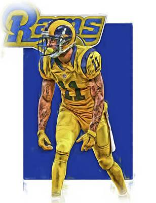 Austin Mixed Media - Tavon Austin Los Angeles Rams Oil Art by Joe Hamilton