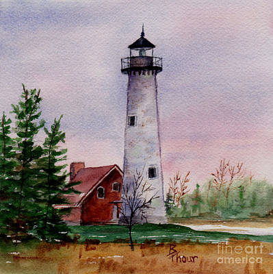 Painting - Tawas Point Light by Brenda Thour