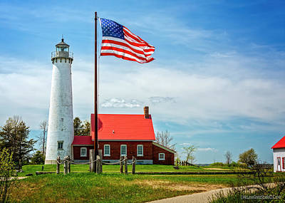 Abstract Graphics - Tawas Point Lighthouse by LeeAnn McLaneGoetz McLaneGoetzStudioLLCcom