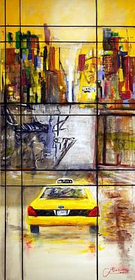 New York Jets Painting - Taxi 7 by Jack Diamond