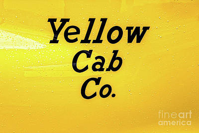 Photograph - Taxi Cab Sign by Colleen Kammerer
