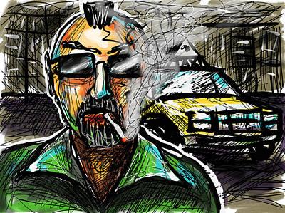 Digital Art - Taxi Driver by Joe Bloch