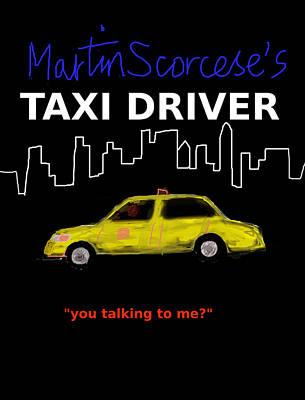 Harlem Digital Art - Taxi Driver Movie Poster by Enki Art