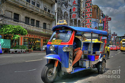 Photograph - Taxi In Bangkok by Charuhas Images