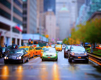 Miniature Nyc Photograph - Taxi by Mark Andrew Thomas