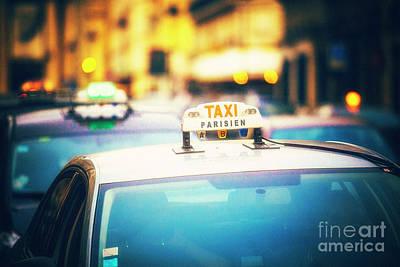 Taxi Parisien Art Print by Katya Horner