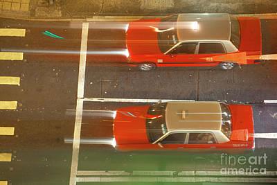 Wan Chai Photograph - Taxis Of Hong Kong by Simon Bradfield