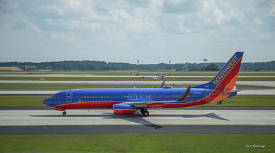 Photograph - Taxiway Beauty Southwest Jet N8648a Art by Reid Callaway