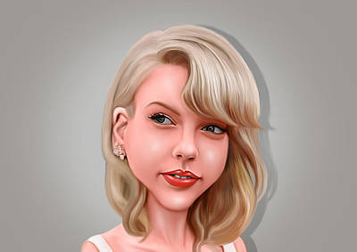Taylor Swift Digital Art - Taylor by Antonius  Dwi Putranto