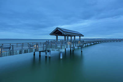 Photograph - Taylor Dock Boardwalk At Blue Hour by David Gn