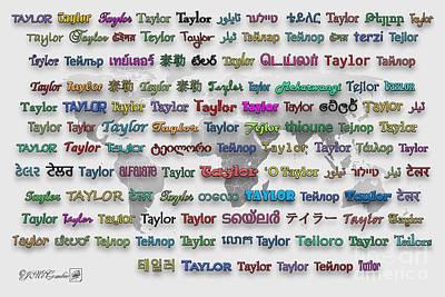 Digital Art - Taylor by J McCombie