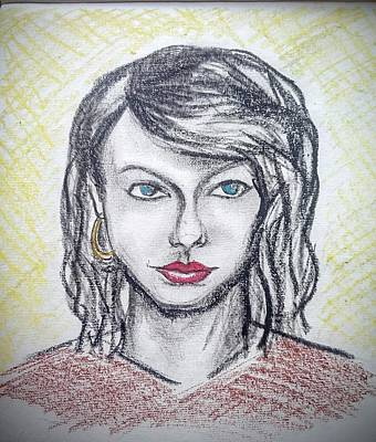 Taylor Swift Drawing - Taylor Swift by Alexander Dolbenko