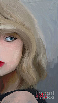 Taylor Swift Painting - Taylor Swift  by Barbara Stanley