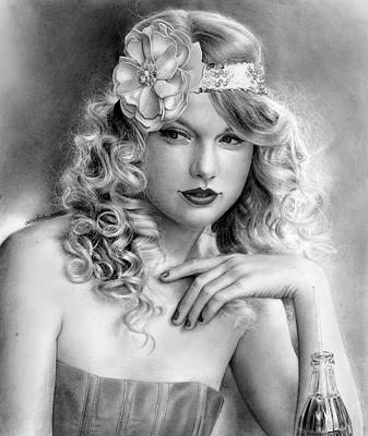 Taylor Swift Drawing - Taylor Swift by Callie Fink