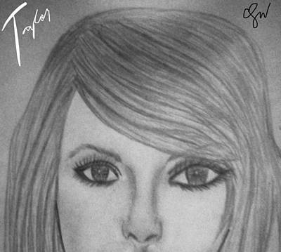 Taylor Swift Drawing - Taylor Swift by Charlee May Buenaflor