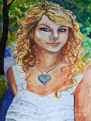 Taylor Swift Wall Art - Painting - Taylor Swift by Emily Michaud
