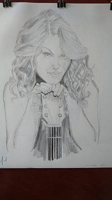 Taylor Swift Drawing - Taylor Swift by Jiyad Mohammed nasser