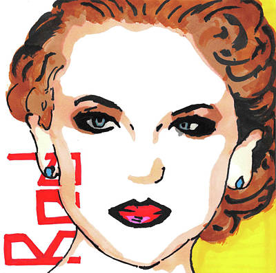 Taylor Swift Painting - Taylor Swift Pop Art Painting by Manavi Singhal