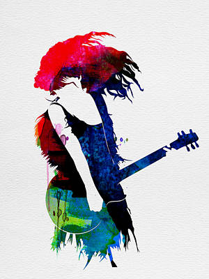 Taylor Watercolor Print by Naxart Studio