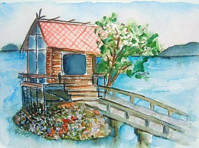 Painting - Tazawako by Elaine Duras