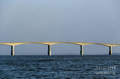 Photograph - Beautiful Bridge The Oland Bridge In Sweden by Kennerth and Birgitta Kullman
