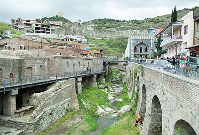 Photograph - Tbilisi Baths by Ramunas Bruzas