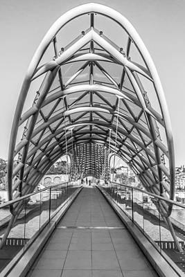 Tbilisi Photograph - Tbilisi Bridge Of Peace by John Grummitt
