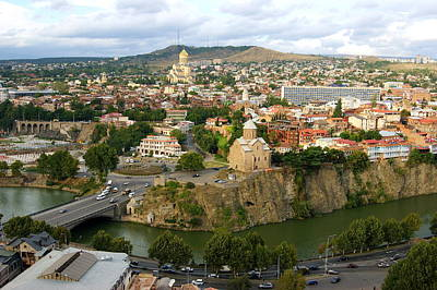 Tbilisi Photograph - Tbilisi - High Angle View. by Viktor Pyko