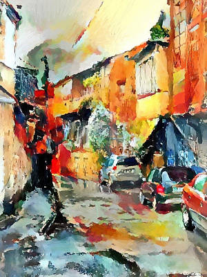 Tbilisi Digital Art - Tbilisi Old Streets 4 by Yury Malkov