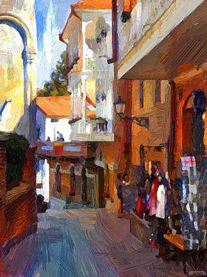 Digital Art - Tbilisi Old Town View by Yury Malkov