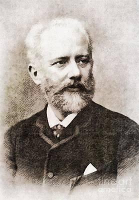 Tchaikovsky, Composer By John Springfield Art Print