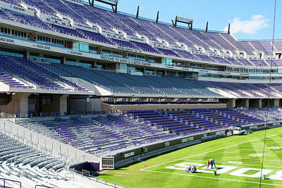 Photograph - Tcu Amon Carter Stadium 102716 by Rospotte Photography