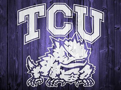 Frogs Mixed Media - Tcu Barn Door by Dan Sproul