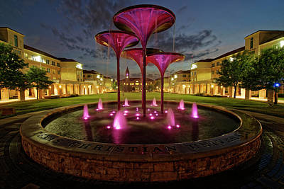 Photograph - Tcu Frog Fountain by Jonathan Davison