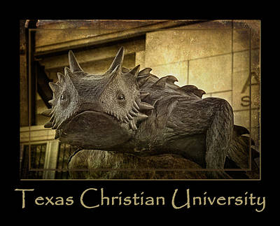 Mascot Photograph - Tcu Frog Poster 2015 by Joan Carroll