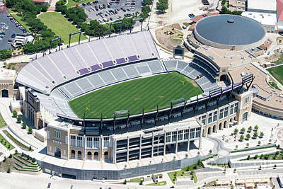 Sports Royalty-Free and Rights-Managed Images - TCU Horned Frog Stadium by Paul Quinn