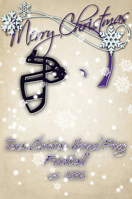 Tcu Horned Frogs Christmas Card 2 Art Print