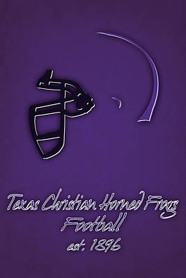 Tcu Horned Frogs Helmet Art Print by Joe Hamilton