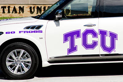 Photograph - Tcu Infinity Suv by Rospotte Photography