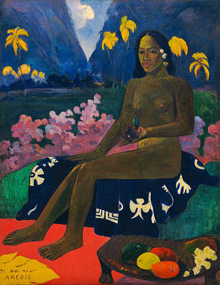 Seat Painting - Te Aa No Areois, The Seed Of The Areoi by Paul Gauguin