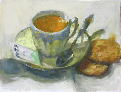 Painting - Tea And Biscuits by Nora Sallows