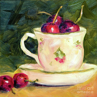 Painting - Tea And Cherries by Lynne Furrer