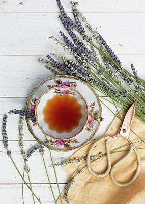 Photograph - Tea And Lavender 3 by Rebecca Cozart